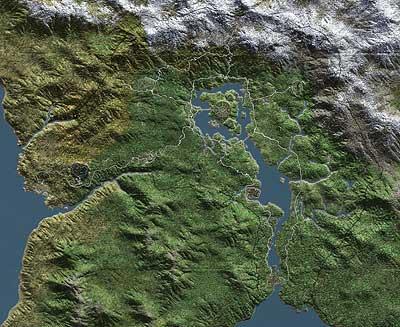 Terrain-Landkarte - ohen Städtenamen von Cyrodiil