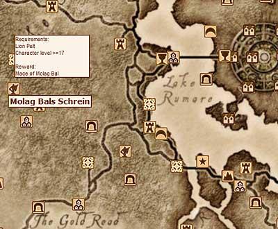 Interaktive Landkarte von Cyrodiil und Shivering Isles - als Software für Windows