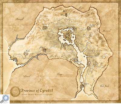 Landkarte von Cyrodiil, Oblivion