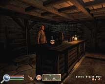 Oblivion, dreizehnte Quest der Dunklen Bruderschaft, Andreas hinter seinem Tresen