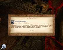 Oblivion, vierzehnte Quest der Dunklen Bruderschaft, Belohnung und neuer Auftrag